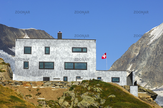 Berghaus Anenhütte, Wallis, Schweiz