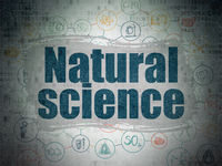 Science concept: Natural Science on Digital Data Paper background