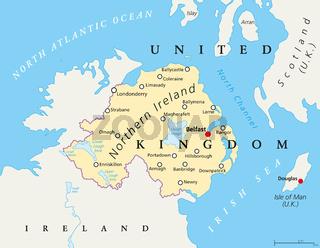 Nordirland politische Landkarte