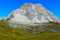 Gipfel Sulzfluh im Rätikon, St. Antönien, Prättigau, Graubünden, Schweiz