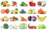 Obst und Gemüse Früchte Apfel Orange Zitrone Beeren Salat Freisteller freigestellt isoliert