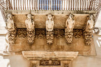 NOTO, ITALY - Detail of Baroque Balcony, 1750