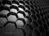 3d Rendering of Futuristic Surface with Hexagons