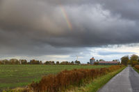Regenbogen in den Wolken