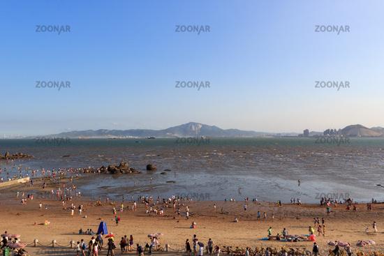 Aerial view of beach in xiamen white city