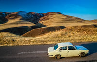 Driving through the beautiful Alamut mountains in Iran