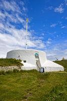 Besucherzentrum in der ehemalige Beobachtungsstation der Küstenwache, Burghead, Schottland, UK