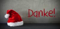 Santa Hat, Danke Means Thank You