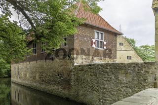 Vorburg der Burg Vischering in Lüdinghausen, Münsterland, NRW,