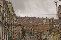 View Of Brick Houses Hills, La Paz, Bolivia