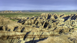 Eroded buttes, Badlands National Park