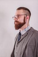 Geschäftsmann mit Brille
