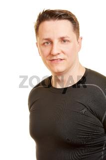 Starker junger Mann als Bodybuilder
