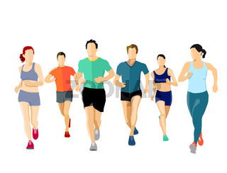 Personen Laufen