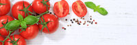 Tomaten Tomate rot Gemüse Banner Textfreiraum von oben