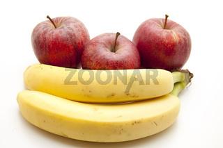 Bananen und Äpfel