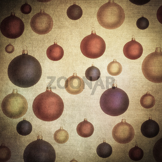 baubles over vintage paper, nice christmas background