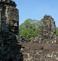 Bodhisattva-Köpfe im Bayon Tempel von Angkor