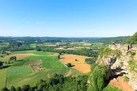 Landscape the Dordogne in French aquitaine