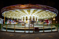 beautiful bright carousel