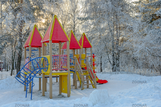 Playground in winter park
