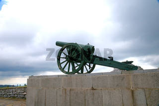 The monument Gun. Shipka. Bulgaria.