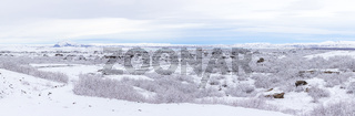 Winter landscape Iceland Panorama