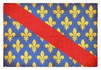 Grunge flag of Allier (France)