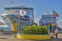 Ships In The Port Of Zante Basseterre,  St. Kitts, West Indies