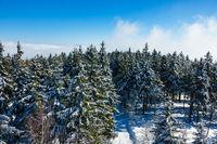 Winter im Riesengebirge bei Benecko, Tschechien