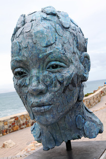 Skulptur at Hermanus, Südafrika, sculpture at Hermanus, South Africa