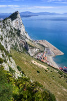 Rock of Gibraltar Slope at Mediterranean Sea