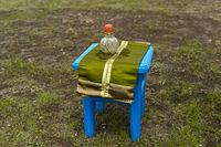 Wertvolle traditionelle Schnupftabakdose, huurug, eines Nomaden, Mongolei