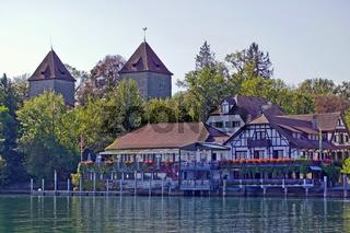Blick vom Seerhein in  Konstanz  nach Gottlieben