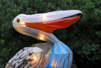 Portrait of an Illuminated Chinese lantern representing a pelican