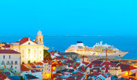 Lisbon Old Town and port, Portugal
