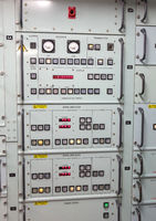 Button panel in an old navy vessel