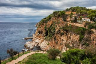 Coastline of Mediterranean Sea (Balearic Sea)