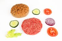 Zutaten für einen Hamburger