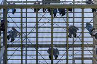Menschen auf einem Aussichtsturm