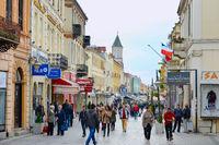 Chirok Sokak street.  Bitola, Macedonia