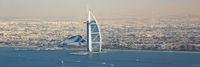 Dubai Burj Al Arab Hotel Panorama Boote Luftaufnahme Luftbild