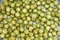 Delicious guavas on tray