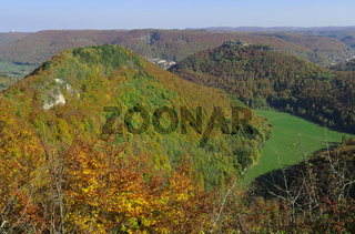 Herbstlandschaft auf der Schwaebischen Alb bei Bad Urach