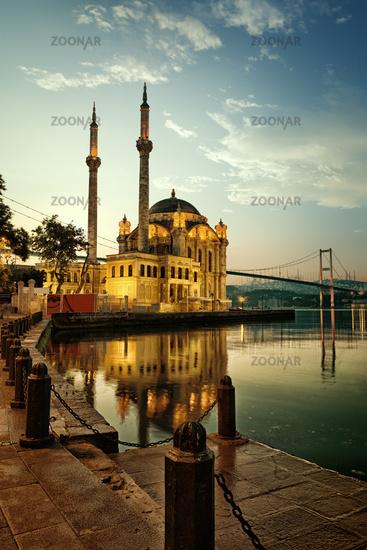 Mosque and Bosphorus bridge