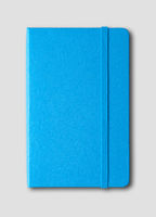 blue closed notebook isolated on grey