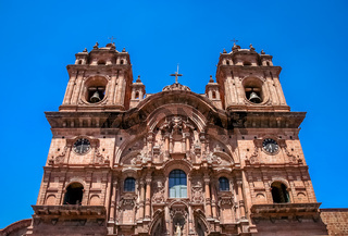 Towers of the Cathedral of Santo Domingo in Cusco