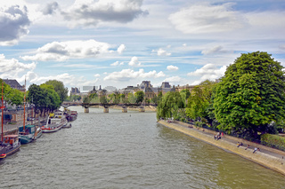 Seine river and boats