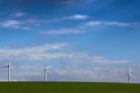 windmills for green energy in the field