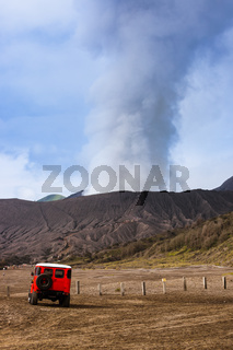 Mountain Bromo volcano - island Java Indonesia